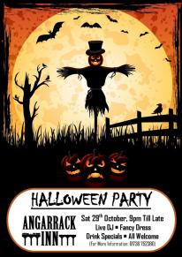 Halloween Party Sat 29th October 9pm til late